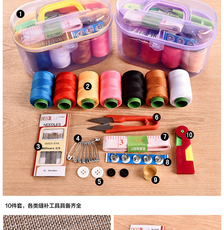 vanzlife universal portable sewing kit handstitch sewing needle thread package 5