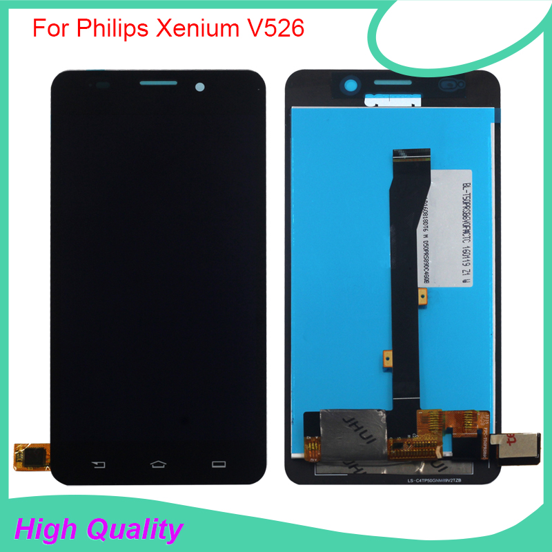 Original Quality For Philips V526 LCD Display Touch Screen Digitizer Glass For Philips Xenium V526 lcd Assembly With Free Tools<br>