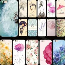Newest Arrival Flower Design Painted SOFT Cover Case For Apple iPhone 5C iPhone5C Cases Phone Shell 2017 Best Choose For Gift