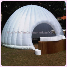 2015 hot sale 6MDia luxury marquee inflatable dome tent with colorful led lights for party events(China)