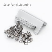 Solar Panel Mounting Mount Accessories Flat Roof Wall Kit Bracket Screws Nuts(China)