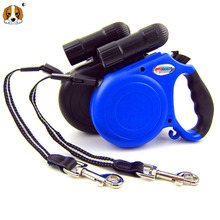 High Quality 5.0 M Lighting One-handed With Lock Retractable Dog Leash Lead Large Small Harness For Dogs Accessories HP511(China)