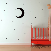 Star Wall Sticker Stars Moon Wall Decal DIY Children Wall Decors Bedroom Removable Wall Stickers Kids Room N2(China)