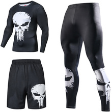 Tracksuits Joggers Running-Sets Gym Compression Fitness Superhero Sports Men's Quick-Dry