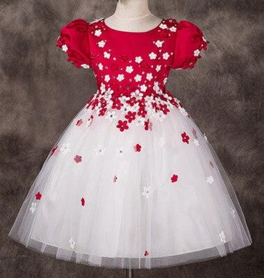 Flower children dress princess dress costumes girls dress pink bitter fleabane bitter fleabane dress<br>