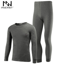 Innersy 2017 Underwear Autumn Mens Thermal Underwear Mens Long John Slim Underwear Sets Thick Long Johns Thin Sets Soft Homewear(China)