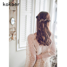 kokoer 2017 OL Dendritic hairpin Clips Fancy Punk Simple Hair Barrette For Women Alloy Hair Bobby Pins, with ABS Acrylic Beads,