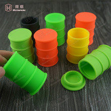 FDA approval mini silicone oil barrel Drums container 26ml large silicone dab jar 55*44mm OEM custom 100pcs free DHL