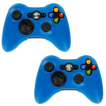 Colorful Silicone Skin Cover Case Soft Protection Sleeve for Xbox 360 Games gamepad wireless Controller Silicone