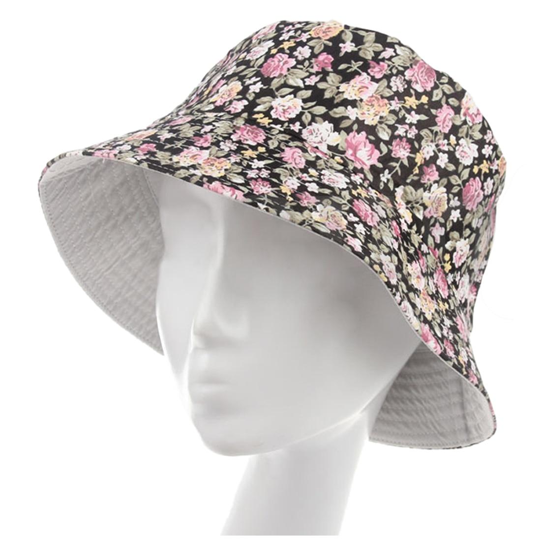 Women Men Bucket Hat Boonie Hat Hunting Fishing Outdoor Cap Floral ... e7f2665912ef