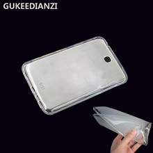 GUKEEDINAZI T210 Transparent Tablets Silicone Case For Samsung Galaxy Tab 3 7.0 SM T210 T211 T215 Soft TPU Cover Shell(China)