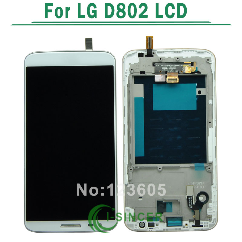 Black White For LG Optimus G2 D806 D802 LCD Display Screen Touch Digitizer Assembly with Frame Replacement Free shipping<br><br>Aliexpress