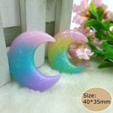 Kawaii moon flatback resin cabochon craft for phone deco  hair bow diy  Scrapbook Embellishment Free shipping