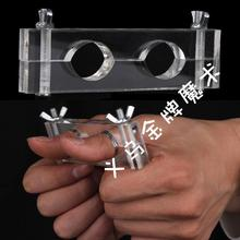 1pic AMAZING Trick Thumb  Escape SPMART Acrylic Steel Magic Trick Thumb Escape Fingers Lock Prop imprint