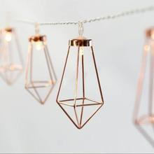 10LED Decorative Diamond LED String Lights Outdoor Garden Patio Lantern Indoor Party Decoration Lightings 160cm A45