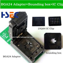 NEW ORIGINAL BGA24 to DIP8 BGA24 turn DIP8 programmer adapter 6*4MM+5*5MM bounding box+W25Q64 IC for TL866CS TL866A EZP2010 2013