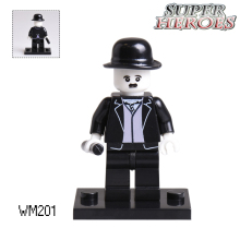 Educational Blocks Charlie Chaplin Star Wars Batman Super Hero Deadpool Model Building Bricks Kids DIY Toys Hobbies WM201