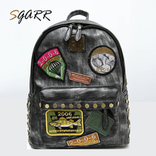 Leather School Girls Backpacks Japan and Korean New Style Micro Chapter Fashion Ladies Teenager Adult  Softback Women Bagpacks
