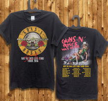 Guns N Roses T shirt men Not In This Lifetime 2016 GNR music printed casual two sides tee shirt US plus size S-3XL