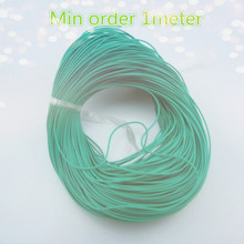 1meter/bag K973 1mm Green Color Copper Conductor Wire 7lines Hinge Insulated Wire(China)