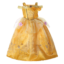 ABGMEDR BRAND Cinderella Dresses Girls Rapunzel Dress Belle Cosplay Tangled Costume Girls Sofia Clothes Kids Chiffon Dress(China)