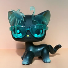 Pet Shop Animal Doll LPS Figure For Child Toy Boy and Gril Short Hair Cat With Glasses for Gift  GDWA275