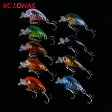 Buy 4.5cm 4g Transparent Plastic Fishing Lures Minow Crankbaits 3D Fish Eye Artificial Lure Bait from China Factory CB005(China)