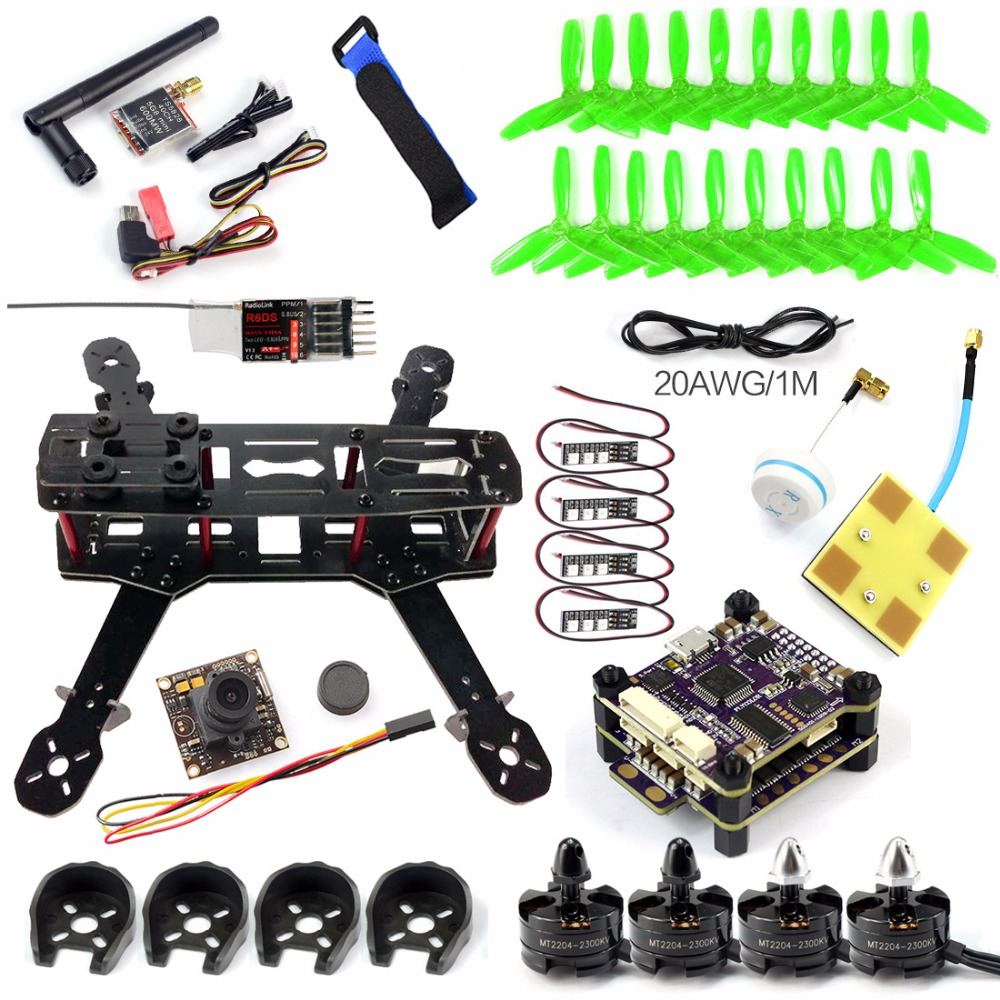 Racer 250 FPV Drone Raptor S-Tower F3 FC Built in 5.8G Transmitter OSD X9D-SBUS FASST-SBUS R6DS RX With HD Camera PNP Version