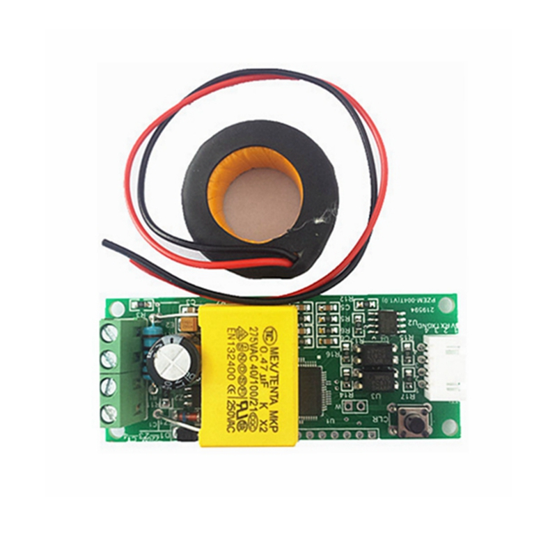 Mini Multifuncion power energy amp voltage monitor meter communication module with CT coil AC 80~260V 100A<br><br>Aliexpress