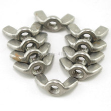 PACK OF 1 304 Stainless Steel Wing Nuts Thumb Butterfly M6 Metric Threaded Fasteners(China)