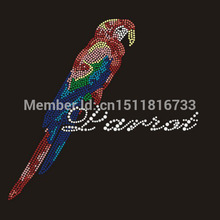 25pcs/lot Bird Pattern hotfix rhinestones motif heat transfer For T-shirt korean glass rhinestones Wholesale