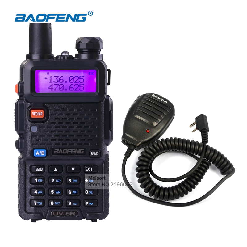 Portable Walkie Talkie Baofeng UV5R Dual Band VHF UHF Handheld uv-5r Radio Communicator Long Range Walky Talky HF Transceiver(China)
