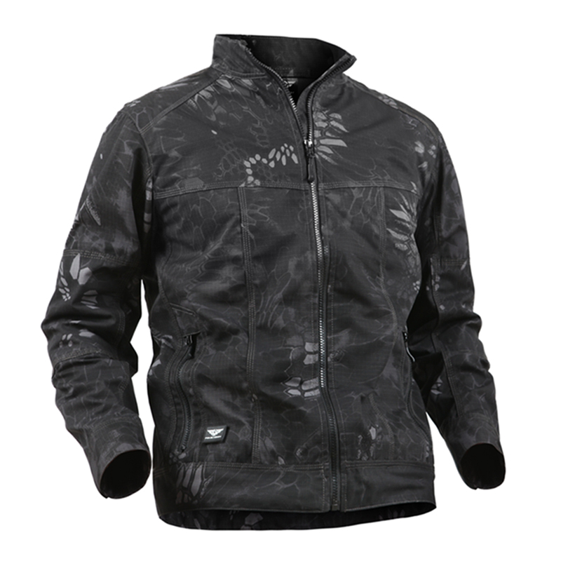 Waterproof Breathable Tactical Jacket Men's Cotton Fabric Windbreaker Softshell Military Jackets Casual Windproof Army Coats 3XL