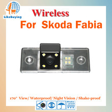 Wireless Parking Camera / 1/4 Color CCD Rear View Camera / Reverse Camera For Skoda Fabia Night Vision / 170 Degree / Waterproof
