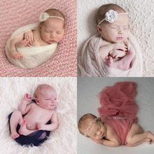 160*50cm Mesh Gauze Cheesecloth Wraps Baby To Maternity Newborn Photography Props Hammocks For Newborn Photo(China)