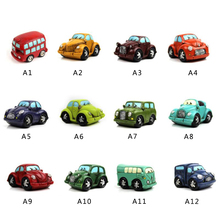 1 Pcs Cartoon Mini Car Bus Resin Figurines Bonsai Crafts Simulation Figurines Gifts For Shoot Home Decoration Kids Gift P15(China)