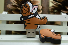 USB flash drive cartoon brown bulldog 16G pen drive 8G pendrive 4G flash card usb 2.0 2G flash memory stick dog U disk