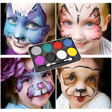 8 Colors Face Paint Halloween Makeup Non-toxic Water Paint Oil Christmas Party Fancy Dress Devil Fans Body Face Painting Primer