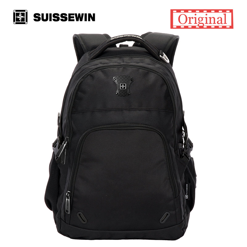 Suissewin swiss boy Orthopedic School laptop Backpack for Teenagers Back To School Bag  School Satchel 15.6 Laptop Backpack <br>