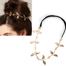 Alloy Leaf Leaves Grecian Garland Forehead Head Hair Band Headband Gold Olive Branch Accessory(China)