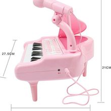 Keyboard Musical Instruments Toy Piano With Microphone Electronic Learning Education Toys For Girl