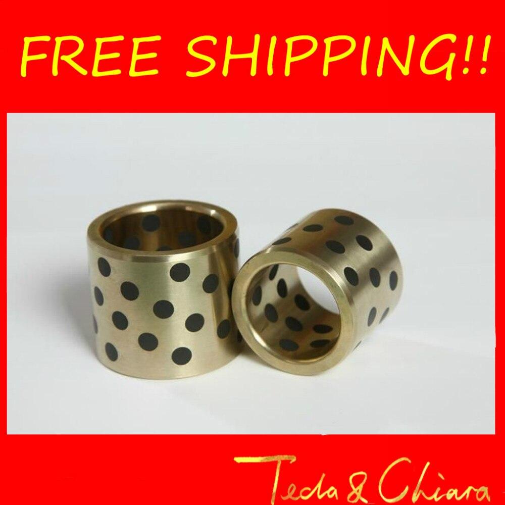 1Pc JDB JDB304030 304030 30 x 40 x 30mm Graphite Lubricating Brass Bearing Bushing Sleeve Oilless Free shipping High Quality<br><br>Aliexpress