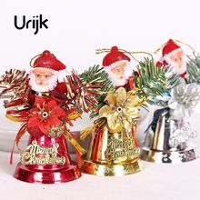 Urijk New Year Merry Christmas Santa Claus Flower Ring Bells Tree Party Hanging Ornaments Supplies Home Decoration Accessories(China)