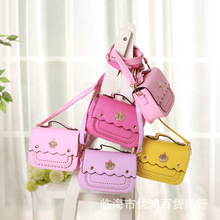 Factory Wholesale Baby fashion Crossbody Bag girls single shoulder bag handbags MINI Children Diamond Crown Princess Lady Bags