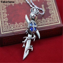 Katekyo Hitman Reborn Vongola Tsuna Famiglia Diamond Inspired Cosplay Necklace Mini Sword Prop Pendant Metal Alloy Necklace(China)