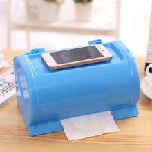 2016 New Fashion High Quality Round Waterproof Plastic Toilet Paper Holder Cartons Tissue Box
