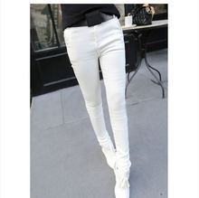 New winter outer wear  tight feet stretch denim  female was thin pencil pants tide