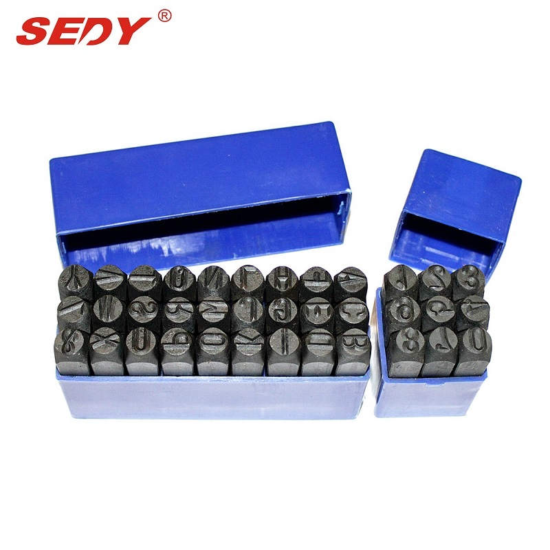 SEDY Letter &amp; Number 36pc Stamp Punch Set Hardened Steal 3mm Hand Tool Professional Tool 17-0<br>