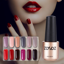 1pc Color Nail Gel Polish Rose Red Series Wine Red Nude Brown Coffee Pink UV Gel Varnish Fingernail Polish Vernis Semi Permanent
