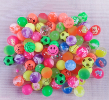 4Pcs 25mm Assorted High Bounce Rubber Ball Small Bouncy Ball Pinata Fillers Kids Toy